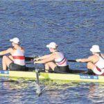 Mit dem Bahnverteilungsrennen am heutigen Freitag (ca. 12 Uhr Ortszeit) beginnt für die Waltroperin Neele Erdtmann (ganz links im Boot) und ihre Kolleginnen der Kampf um eine Medaille bei der WM in Sarasota.