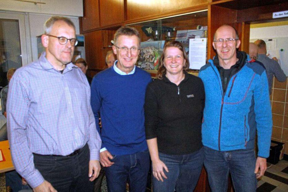 Der neue Vorstand des RV Waltrop (v. l.): Lothar Fenger (Geschäftsführer), Heinz-Jürgen Rodegro (2. Vorsitzender), Anja Ouwersloot (Schatzmeisterin) und Christian Ruhnau (1. Vorsitzender).